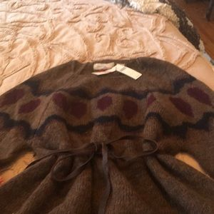 Anthropologie Sleeping on Snow belted sweater NWT